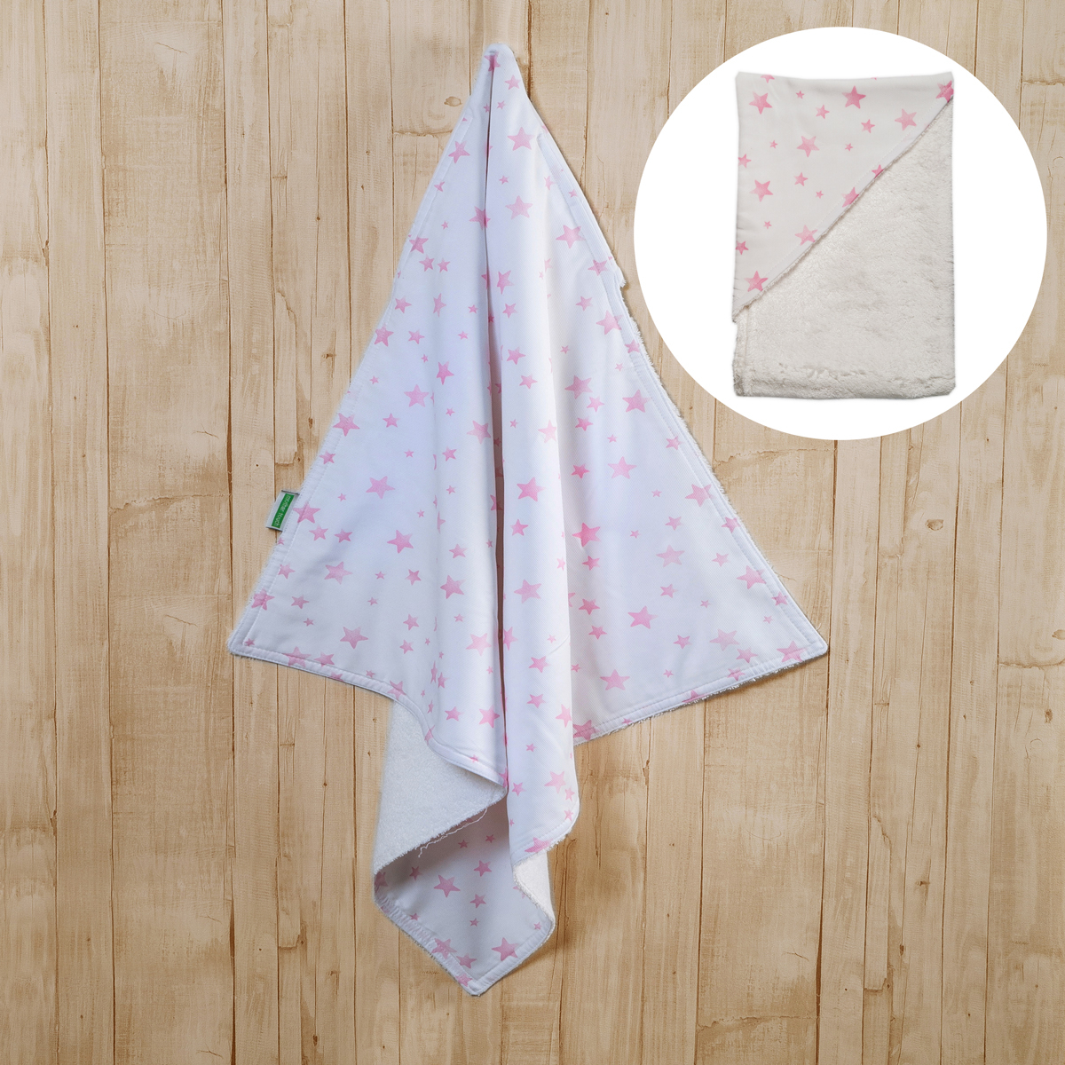 Βρεφική Κάπα Mother Touch Totally Quilted Star Pink