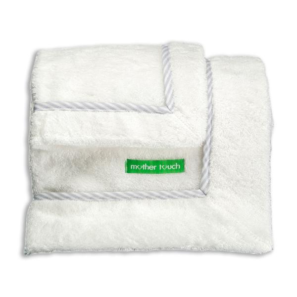 Βρεφικές Πετσέτες (Σετ 2τμχ) Mother Touch Colette Plain Grey