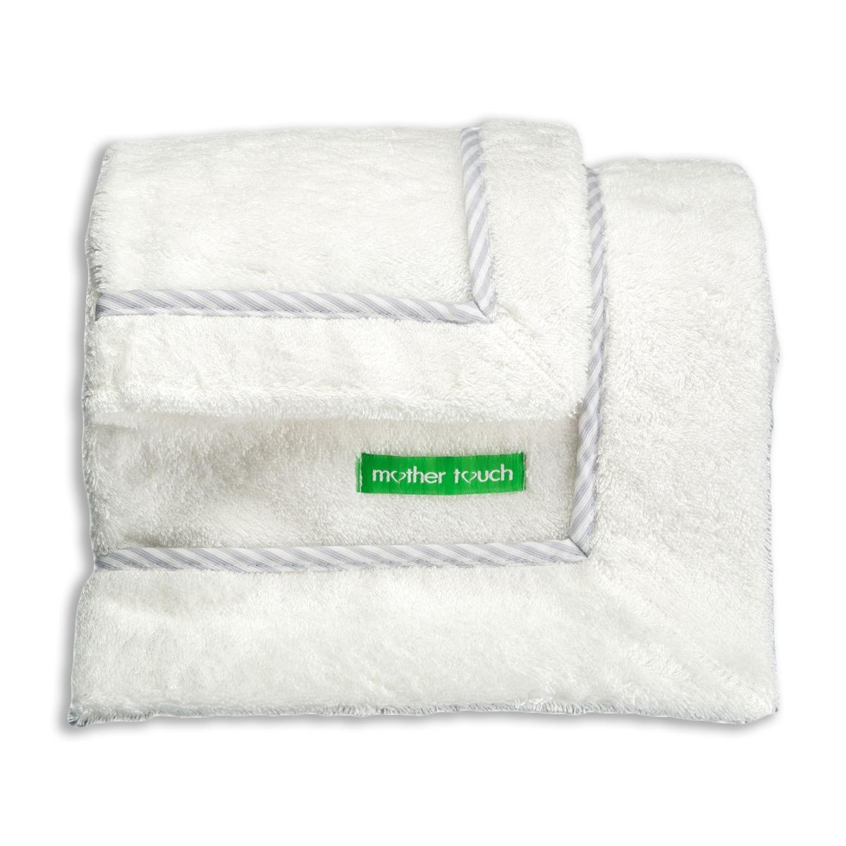 Βρεφικές Πετσέτες (Σετ 2τμχ) Mother Touch D-Line Grey