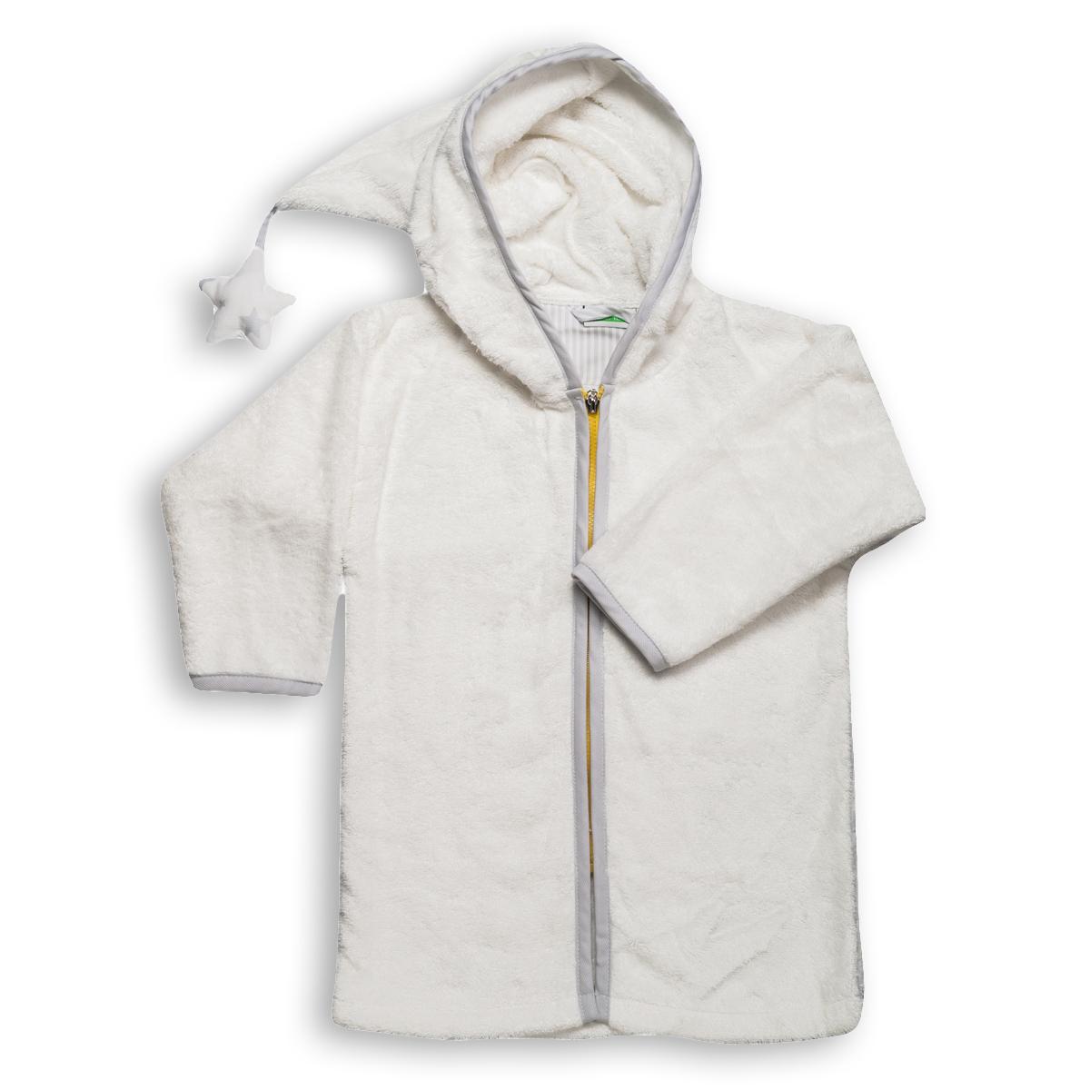 Βρεφικό Μπουρνούζι Mother Touch Basic Zipper Grey No02 No02