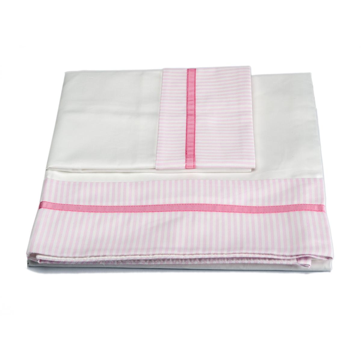 Σεντόνια Κούνιας (Σετ) Mother Touch Happy Pink