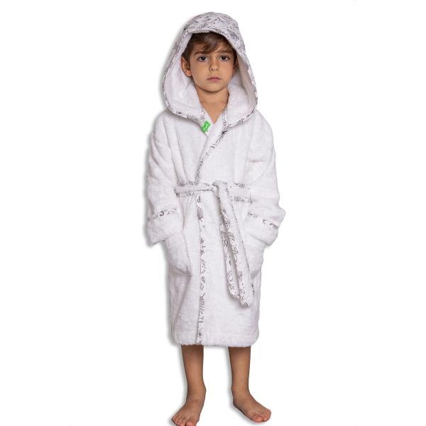 Παιδικό Μπουρνούζι Mother Touch Monkey Bw Quilted Hood