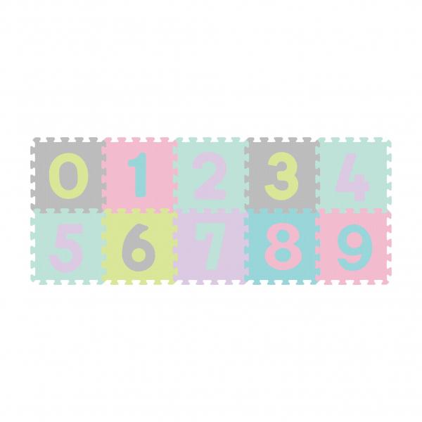 Αφρώδες Παζλ Δαπέδου (Σετ 10τμχ) BabyOno Σχήματα Παστέλ BN274/02