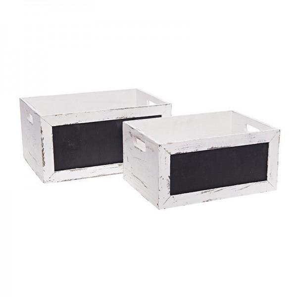 Καλάθια Με Μαυροπίνακα (Σετ 2τμχ) InArt 3-70-463-0003
