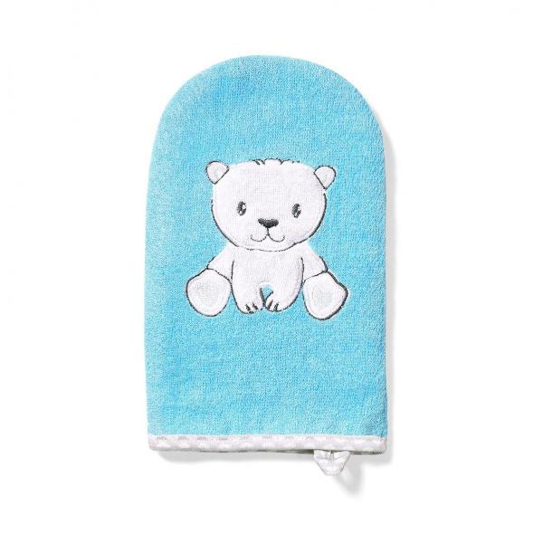 Βρεφικό Γάντι Μπάνιου BabyOno Μπλε BN347/02