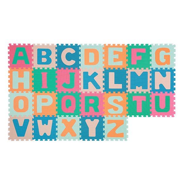 Αφρώδες Παζλ Δαπέδου (Σετ 26τμχ) BabyOno Γράμματα Πολύχρωμα BN281/02