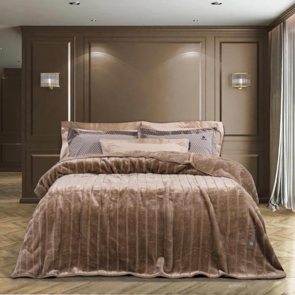 Κουβέρτα Βελουτέ Υπέρδιπλη Greenwich Polo Club Velour 2448 Σπαγγ
