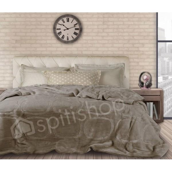 Κουβέρτα Βελουτε Υπερδιπλη Das Home Velour Embossed 298