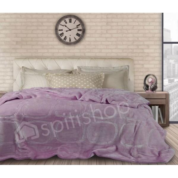 Κουβέρτα Βελουτε Υπερδιπλη Das Home Velour Embossed 299