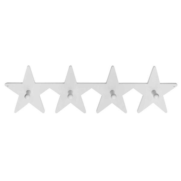 Κρεμάστρα Τοίχου 4 Θέσεων Kids Concept Star ΚC120652 White