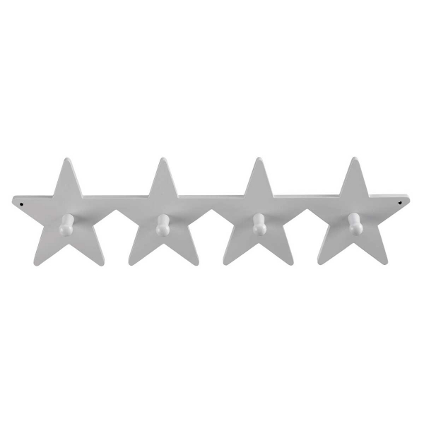 Κρεμάστρα Τοίχου 4 Θέσεων Kids Concept Star ΚC120508 Grey