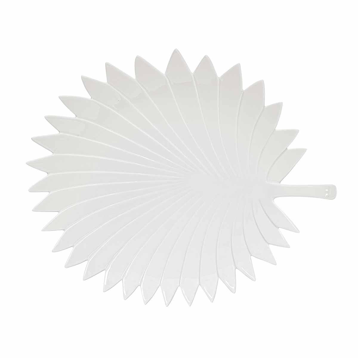 Πιατέλα Διακόσμησης Marva Leaves White 2053LΕWΗ