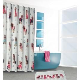 Κουρτίνα Μπάνιου (180x180) και Ταπέτο Das Home 1023