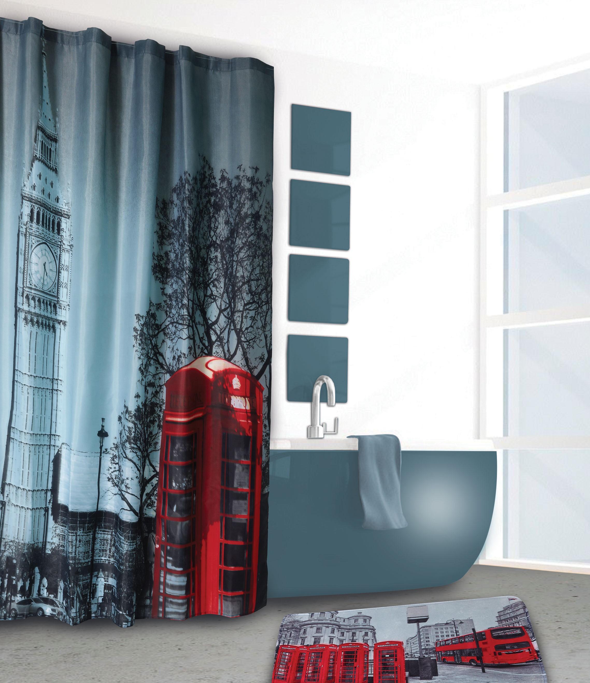 Κουρτίνα Μπάνιου (180x180) και Ταπέτο Das Home 1024