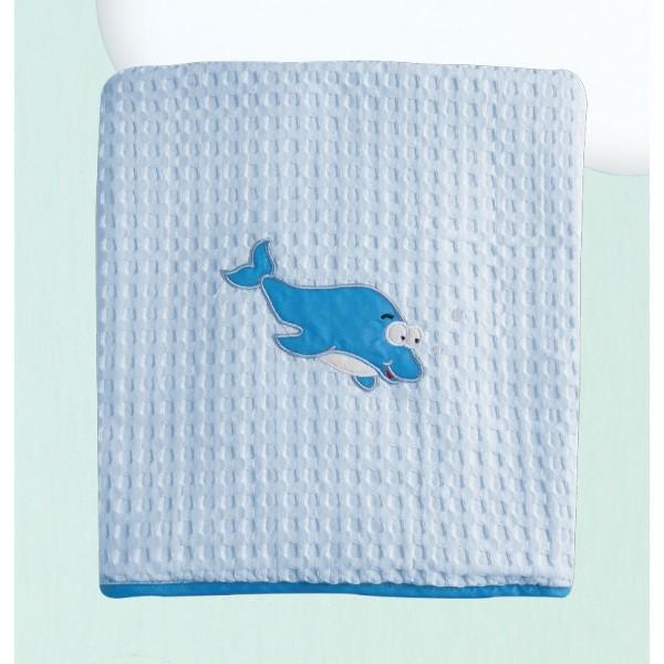 Κουβέρτα Πικέ Κούνιας Das Home Dream Embroidery 6276