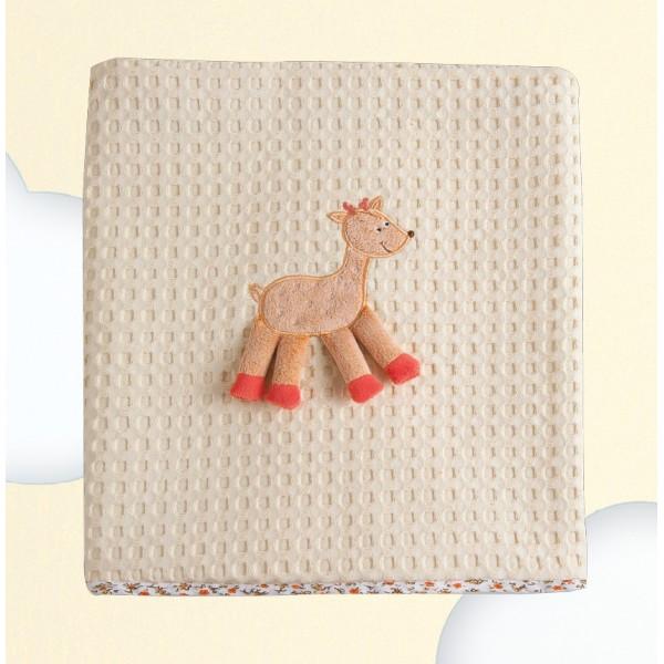 Κουβέρτα Πικέ Κούνιας Das Home Dream Embroidery 6277