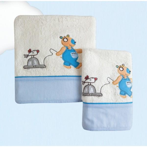 Βρεφικές Πετσέτες (Σετ 2τμχ) Das Home Dream Embroidery 6282