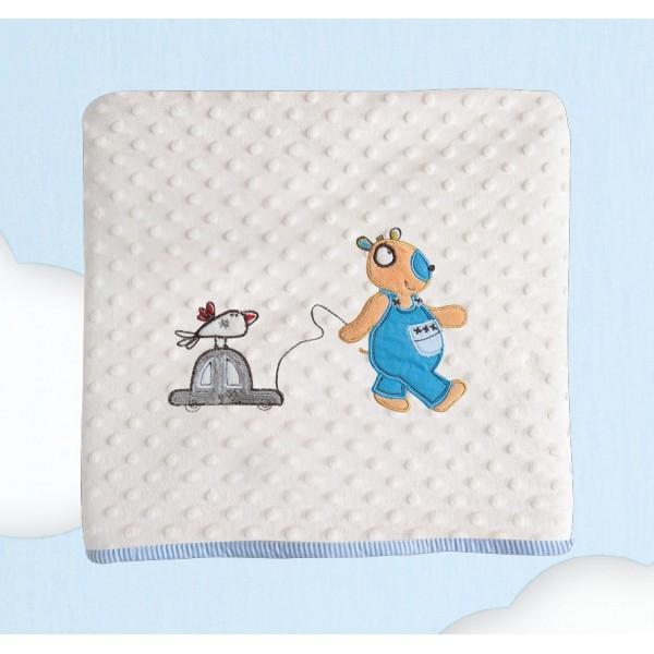 Κουβέρτα Fleece Αγκαλιάς Das Home Dream Embroidery 6282