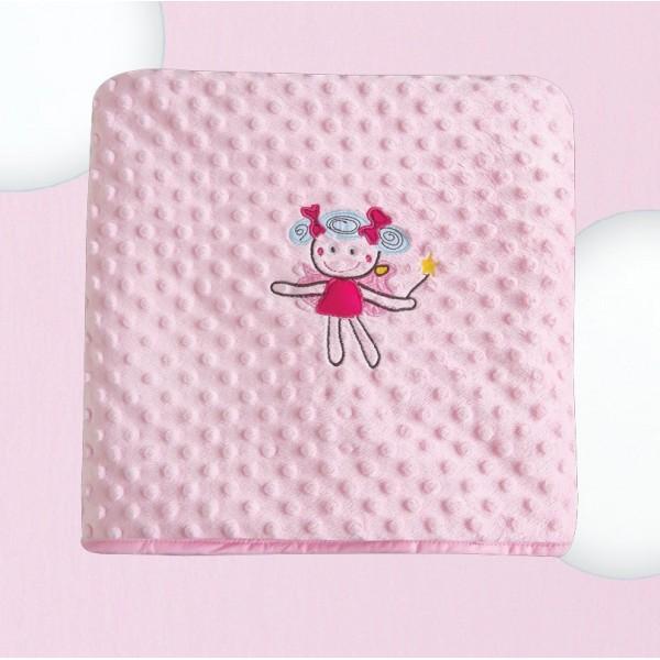 Κουβέρτα Fleece Κούνιας Das Home Dream Embroidery 6281