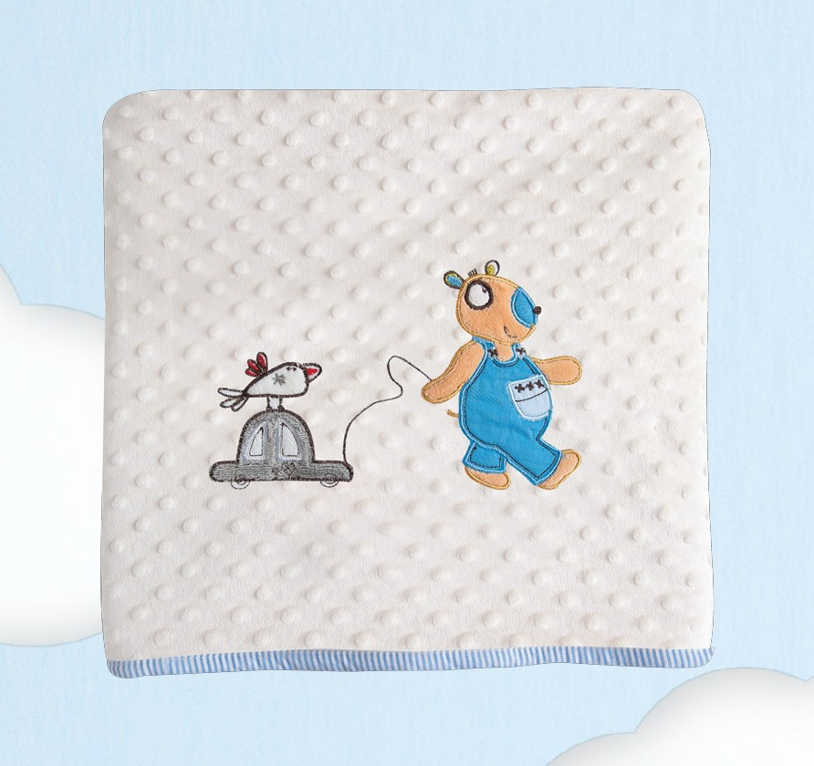 Κουβέρτα Fleece Κούνιας Das Home Dream Embroidery 6282