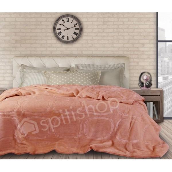 Κουβέρτα Βελουτε Υπερδιπλη Das Home Velour Embossed 315
