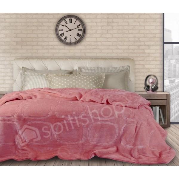 Κουβέρτα Βελουτε Υπερδιπλη Das Home Velour Embossed 316