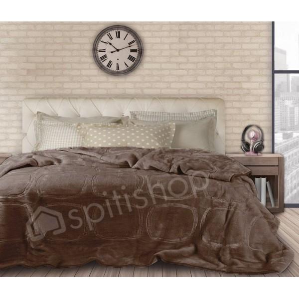 Κουβέρτα Βελουτε Υπερδιπλη Das Home Velour Embossed 318