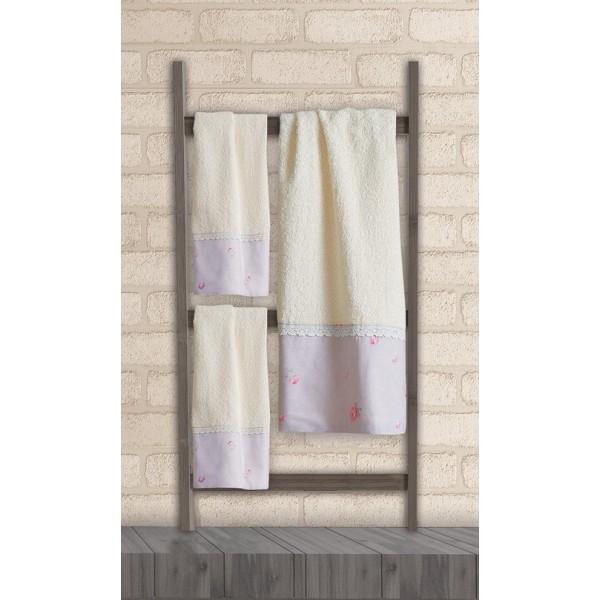 Πετσέτες Μπάνιου (Σετ 3τμχ) Das Home Soft Line Embroidery 267