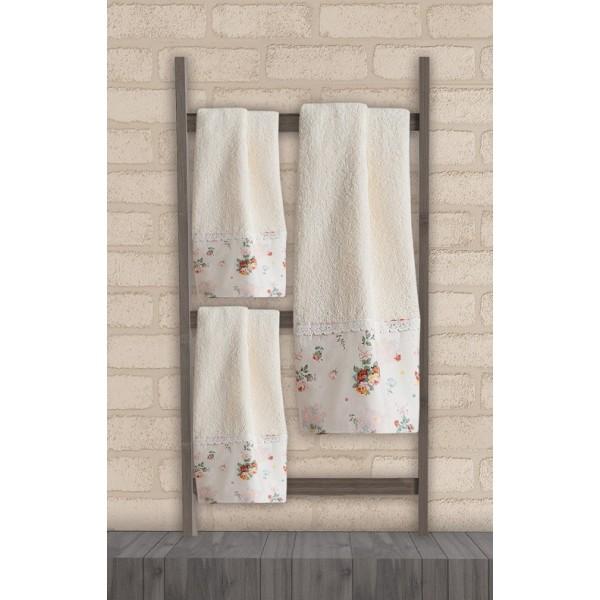 Πετσέτες Μπάνιου (Σετ 3τμχ) Das Home Soft Line Embroidery 268