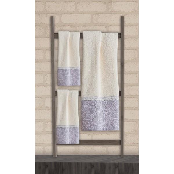 Πετσέτες Μπάνιου (Σετ 3τμχ) Das Home Soft Line Embroidery 269