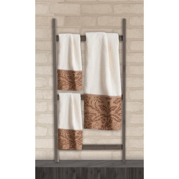 Πετσέτες Μπάνιου (Σετ 3τμχ) Das Home Soft Line Embroidery 270