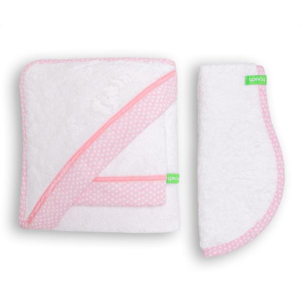 Βρεφική Κάπα (Σετ 3τμχ) Mother Touch Velvet Pink