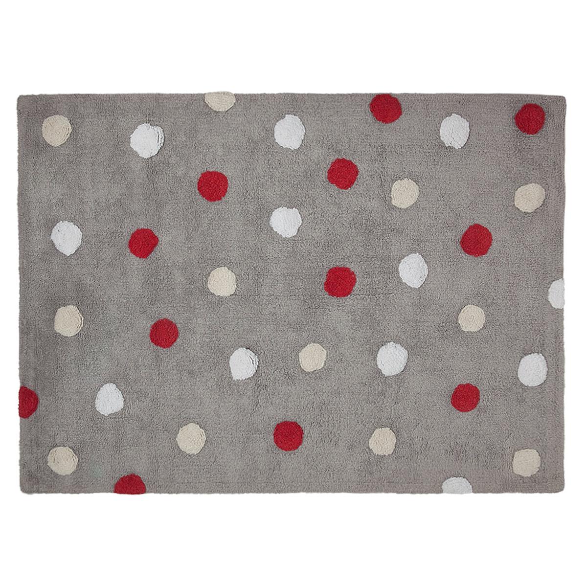 Πλενόμενο Χαλί (120x160) Lorena Canals Topos Tricolor Grey-Red