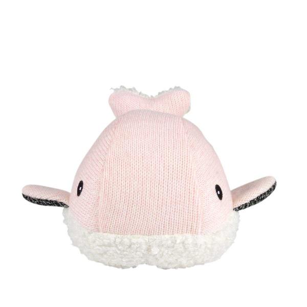 Υφασμάτινη Φάλαινα Με Λευκούς Ήχους Flow Moby FL1405027 Pink