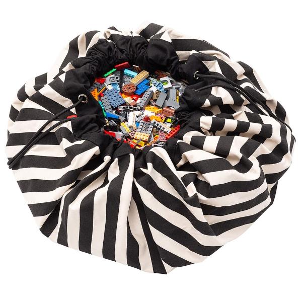 Σάκος/Στρώμα Παιχνιδιού Play&Go Stripes Black