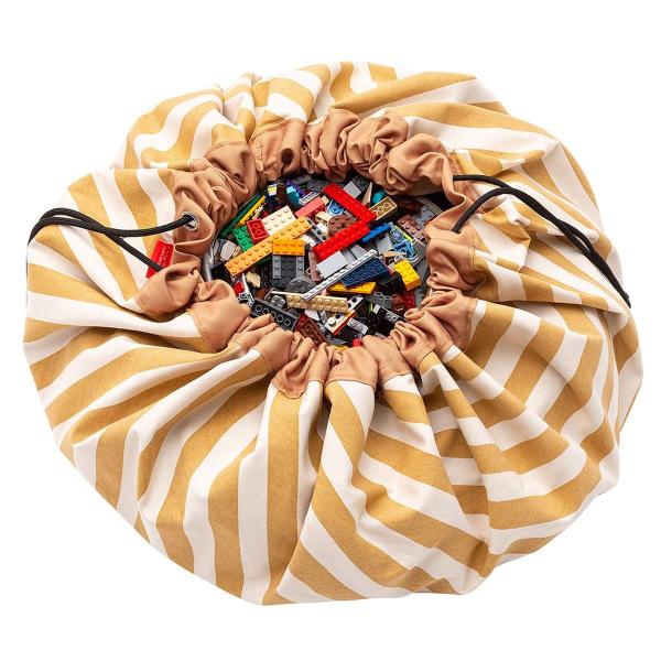Σάκος/Στρώμα Παιχνιδιού Play&Go Stripes Mustard