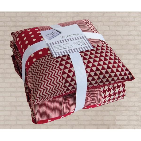 Κουβέρτα Καναπέ + Μαξιλάρι Με Γουνάκι Das Home 325