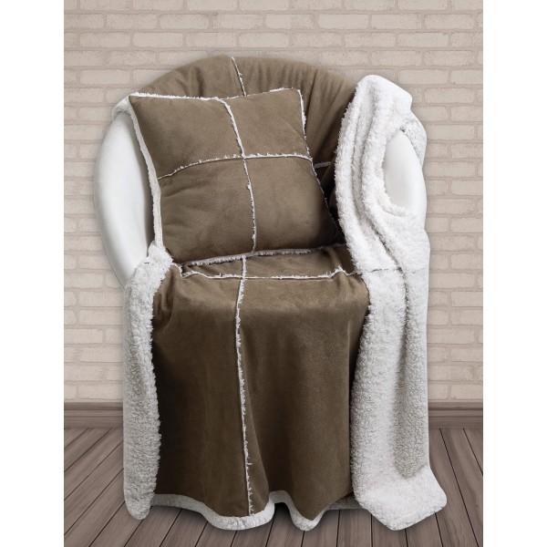 Κουβέρτα Καναπέ + Μαξιλάρι Με Γουνάκι Das Home 327