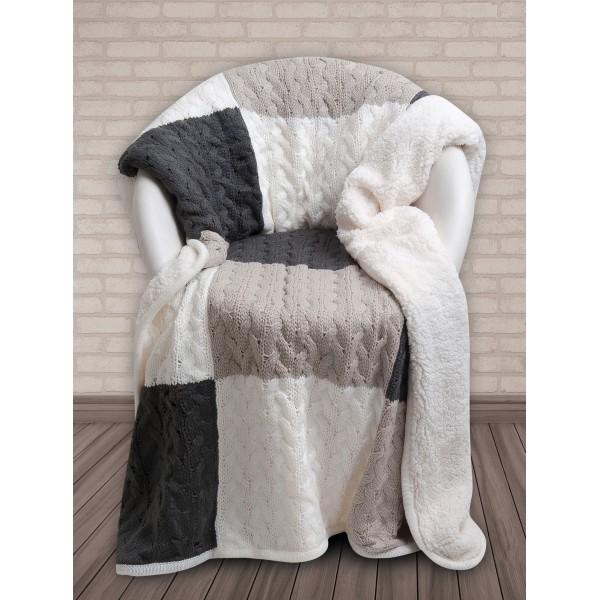 Κουβέρτα Καναπέ Πλεκτή Με Γουνάκι Das Home 320