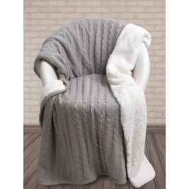 Κουβέρτα Καναπέ Πλεκτή Με Γουνάκι Das Home 322