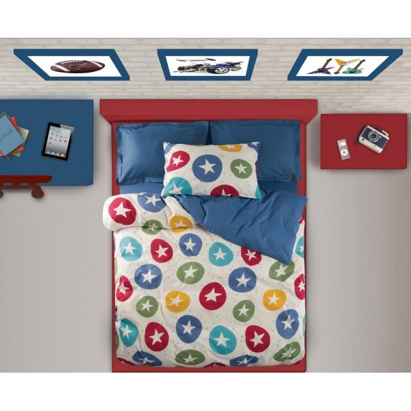 Παπλωματοθήκη Μονή (Σετ) Das Home Kid Prints 4536