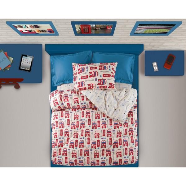 Παπλωματοθήκη Μονή (Σετ) Das Home Kid Prints 4540