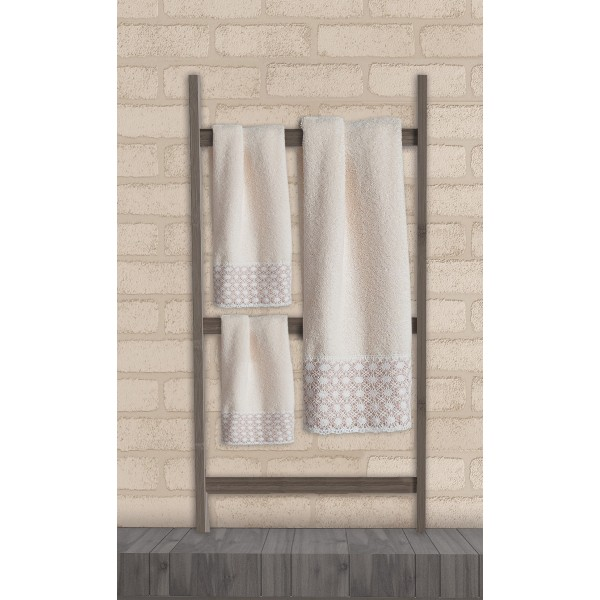 Πετσέτες Μπάνιου (Σετ 3τμχ) Das Home Soft Line Embroidery 271