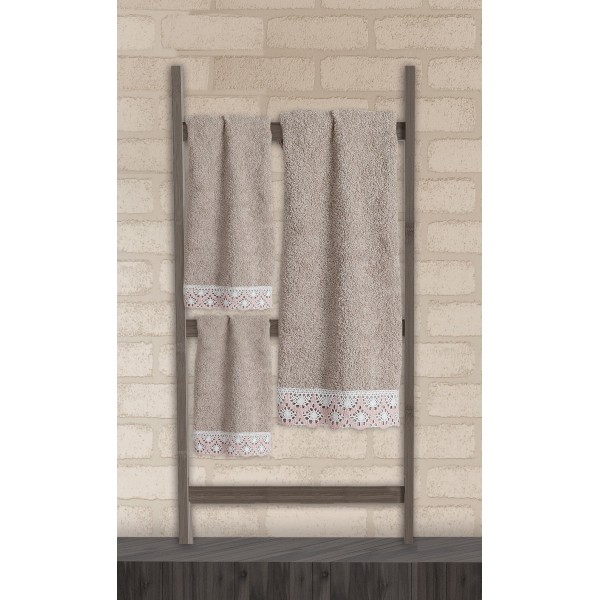 Πετσέτες Μπάνιου (Σετ 3τμχ) Das Home Soft Line Embroidery 272