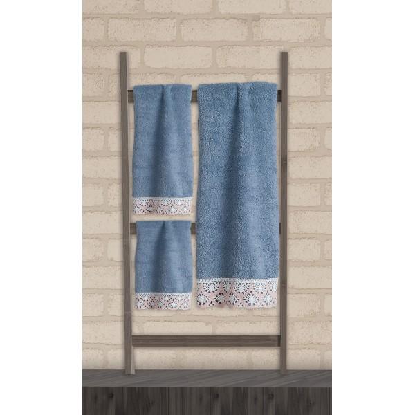 Πετσέτες Μπάνιου (Σετ 3τμχ) Das Home Soft Line Embroidery 273