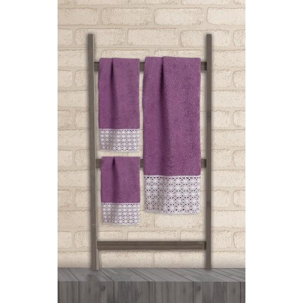 Πετσέτες Μπάνιου (Σετ 3τμχ) Das Home Soft Line Embroidery 274