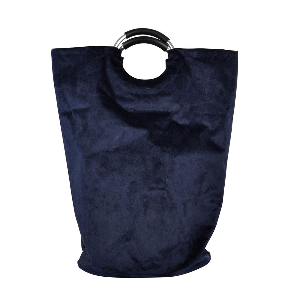 Καλάθι Απλύτων (36x36x61) L-C Velvet Bleu Fonce 6GMB549BF