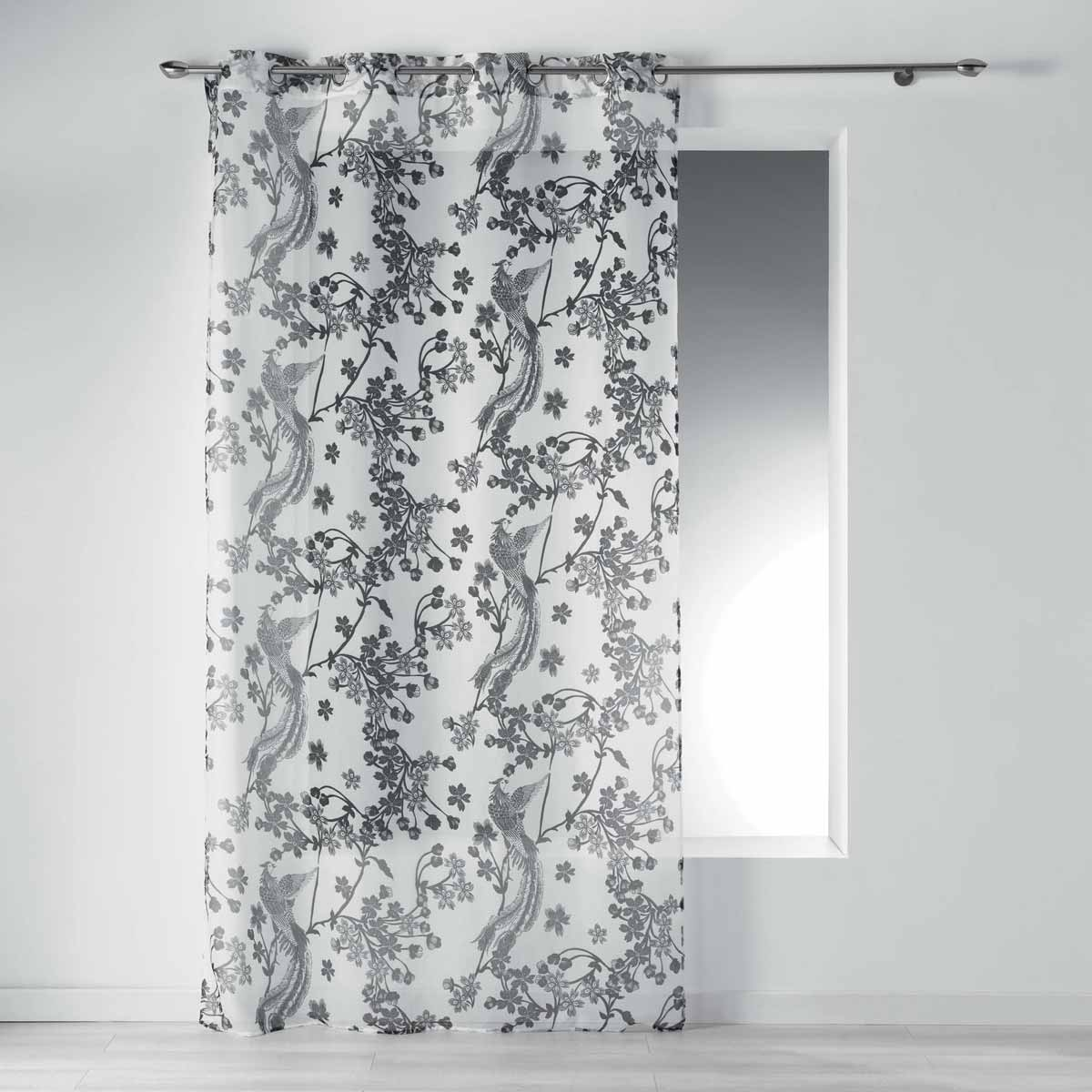 Κουρτίνα (140×240) Με Τρουκς L-C Bahria Voilage Blanc 1408646