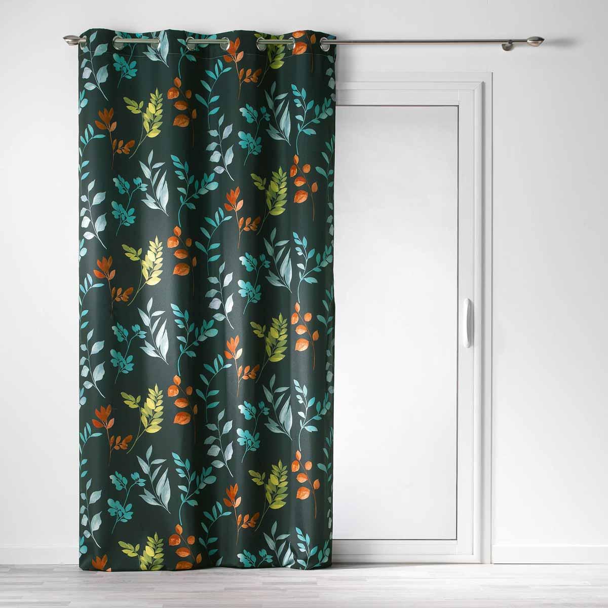 Κουρτίνα (140×260) Με Τρουκς L-C Varvara Rideau Vert 1408685