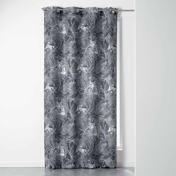 Κουρτίνα (140x260) Με Τρουκς L-C Goji Rideau Anthracite 1408715